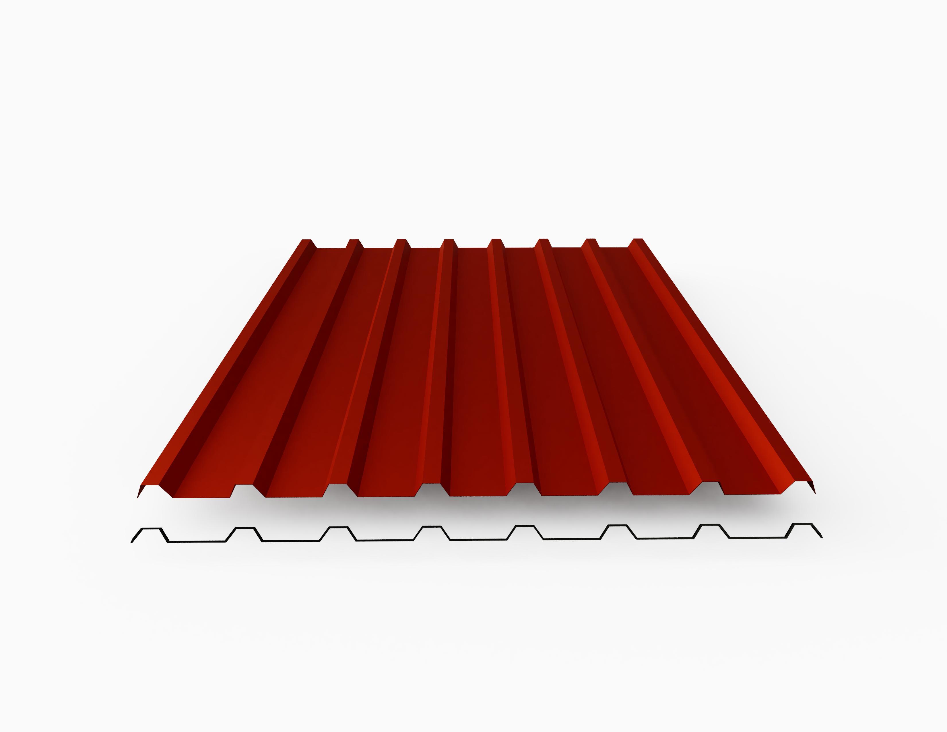 Profilblech Beschichtung 25 /µm St/ärke 0,70 mm Trapezblech Farbe Wei/ßaluminium Material Aluminium Dachblech Profil PA35//1035TR