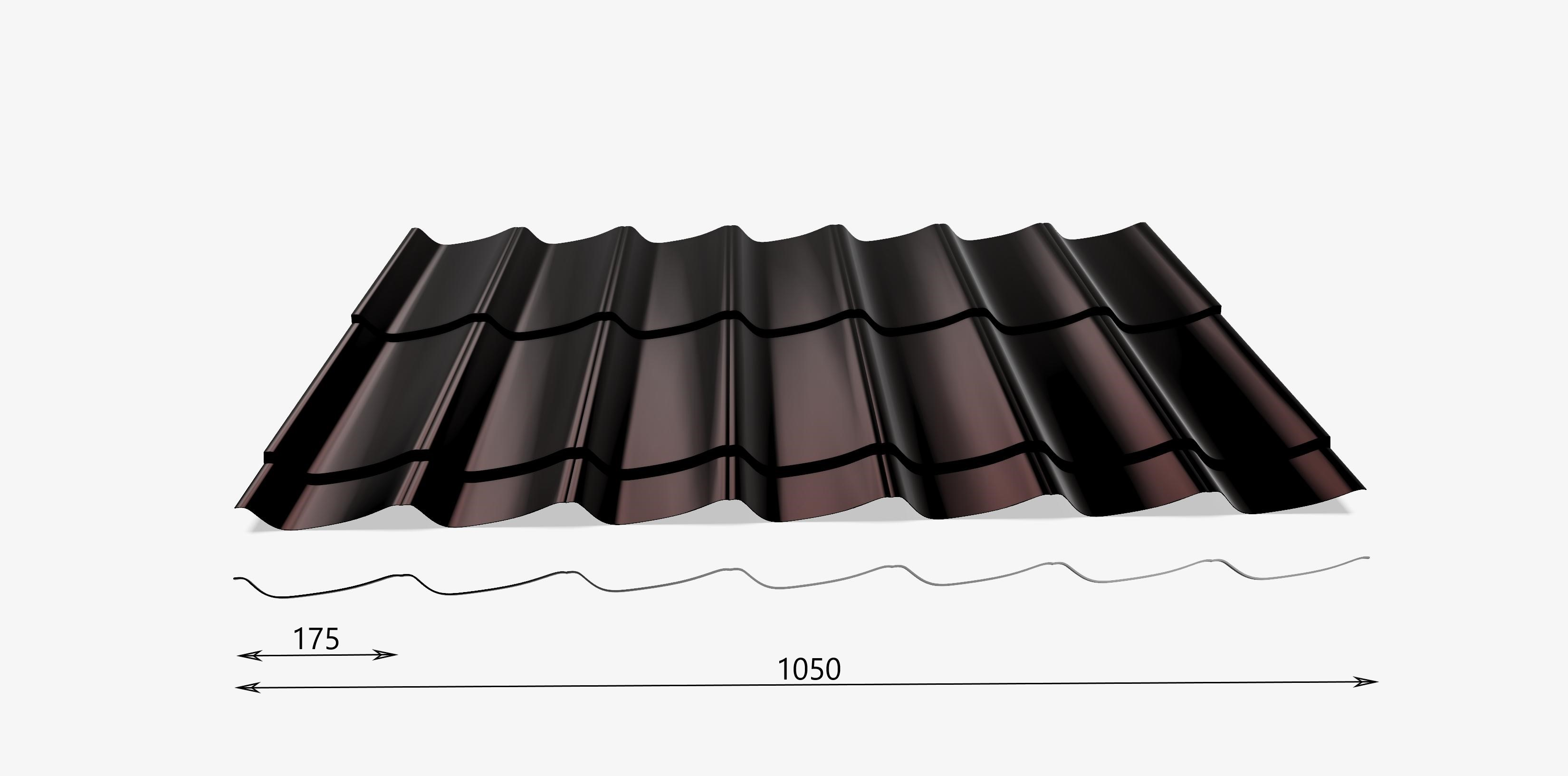 Top Attraktive Dachplatten in Ziegelprofil BL89